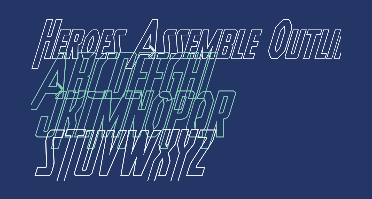 Heroes Assemble Outline Italic