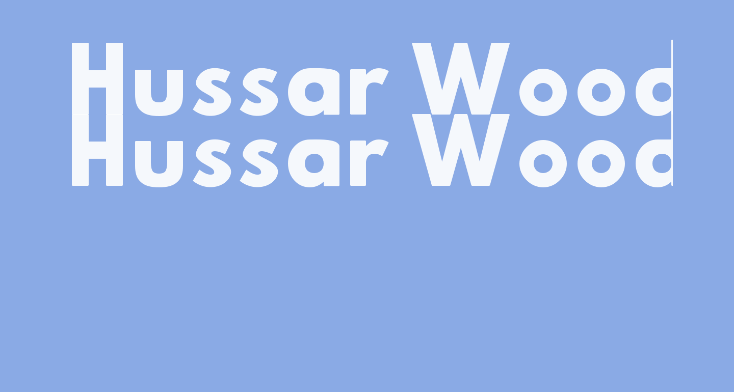 Hussar Woodtype Black