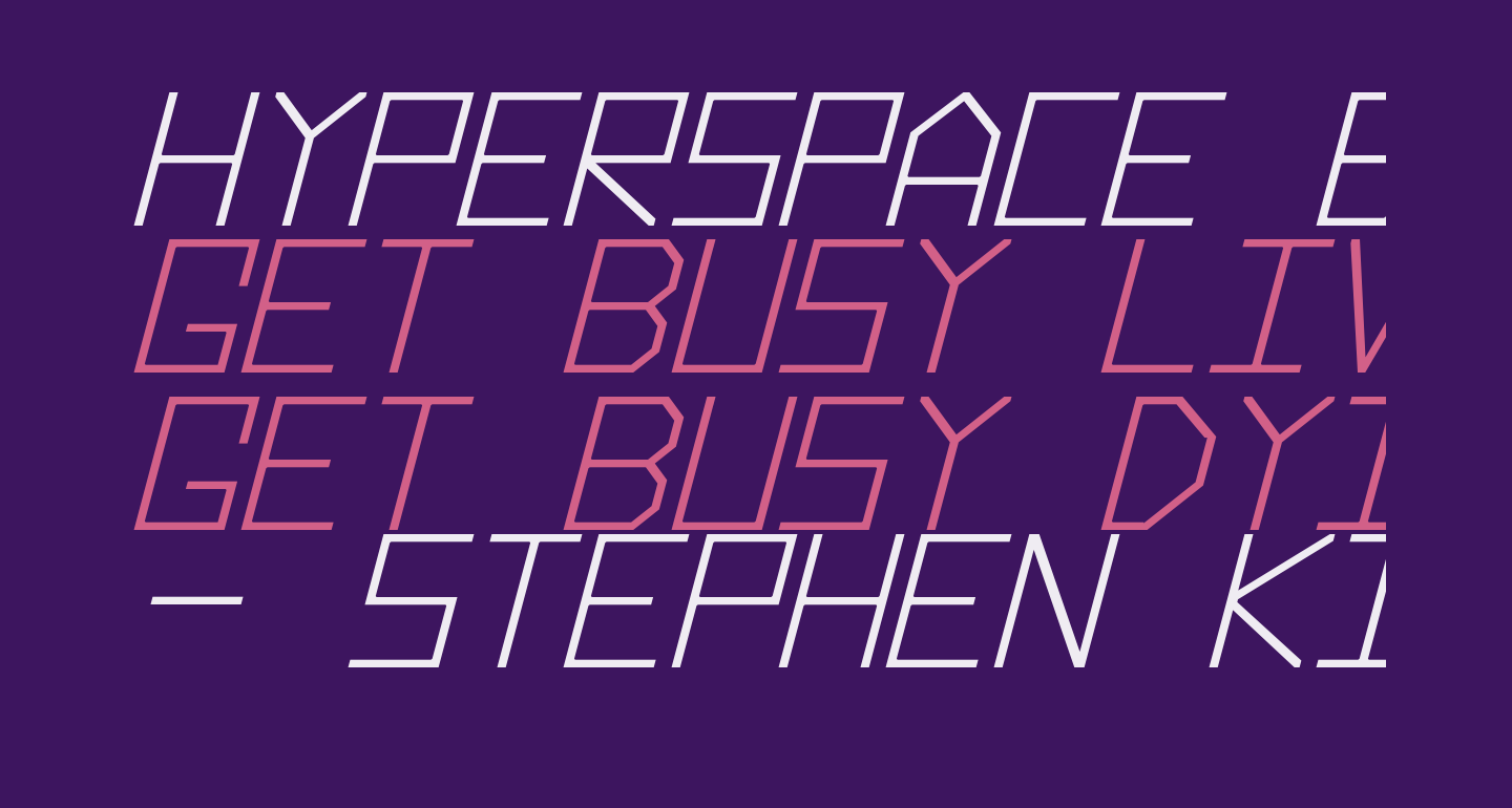 Hyperspace Bold Italic