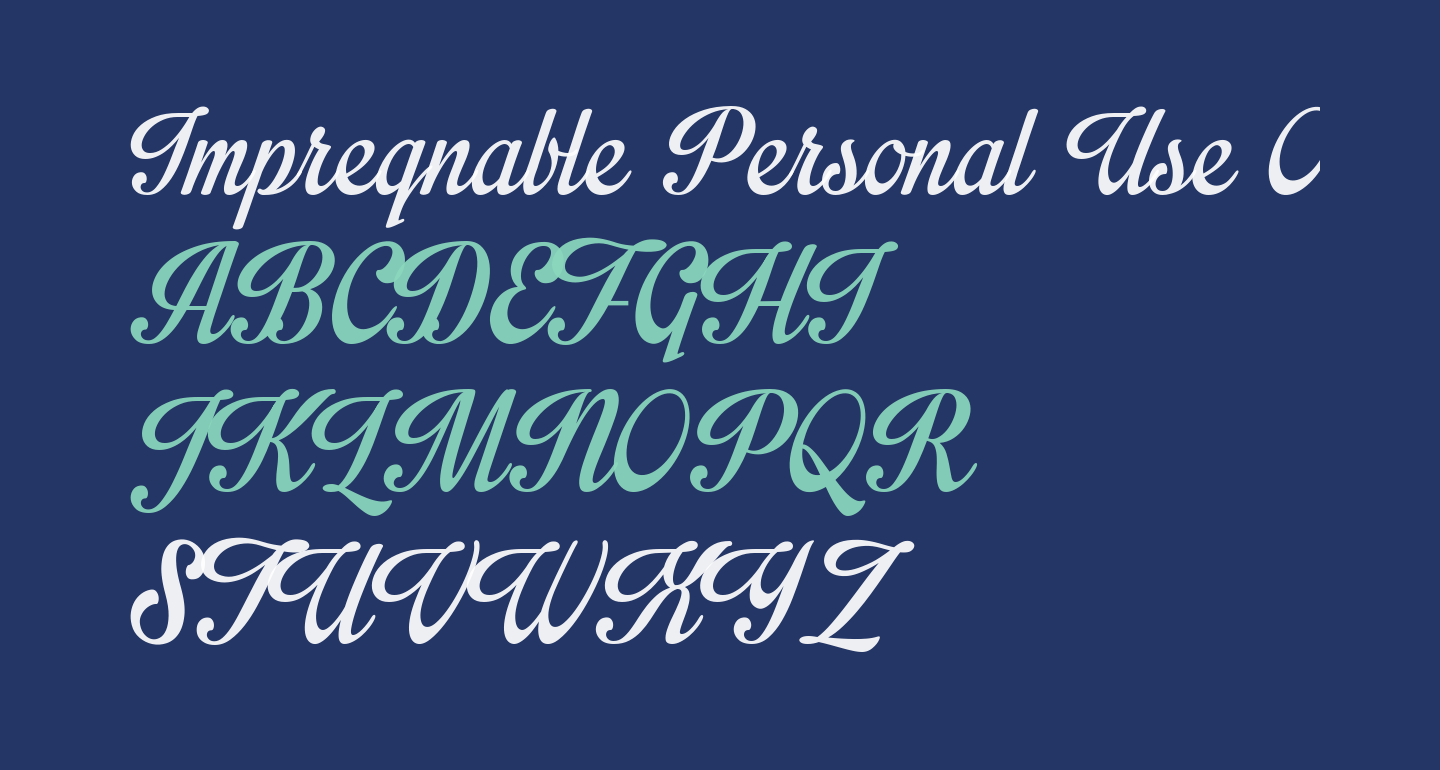 Impregnable Personal Use Only