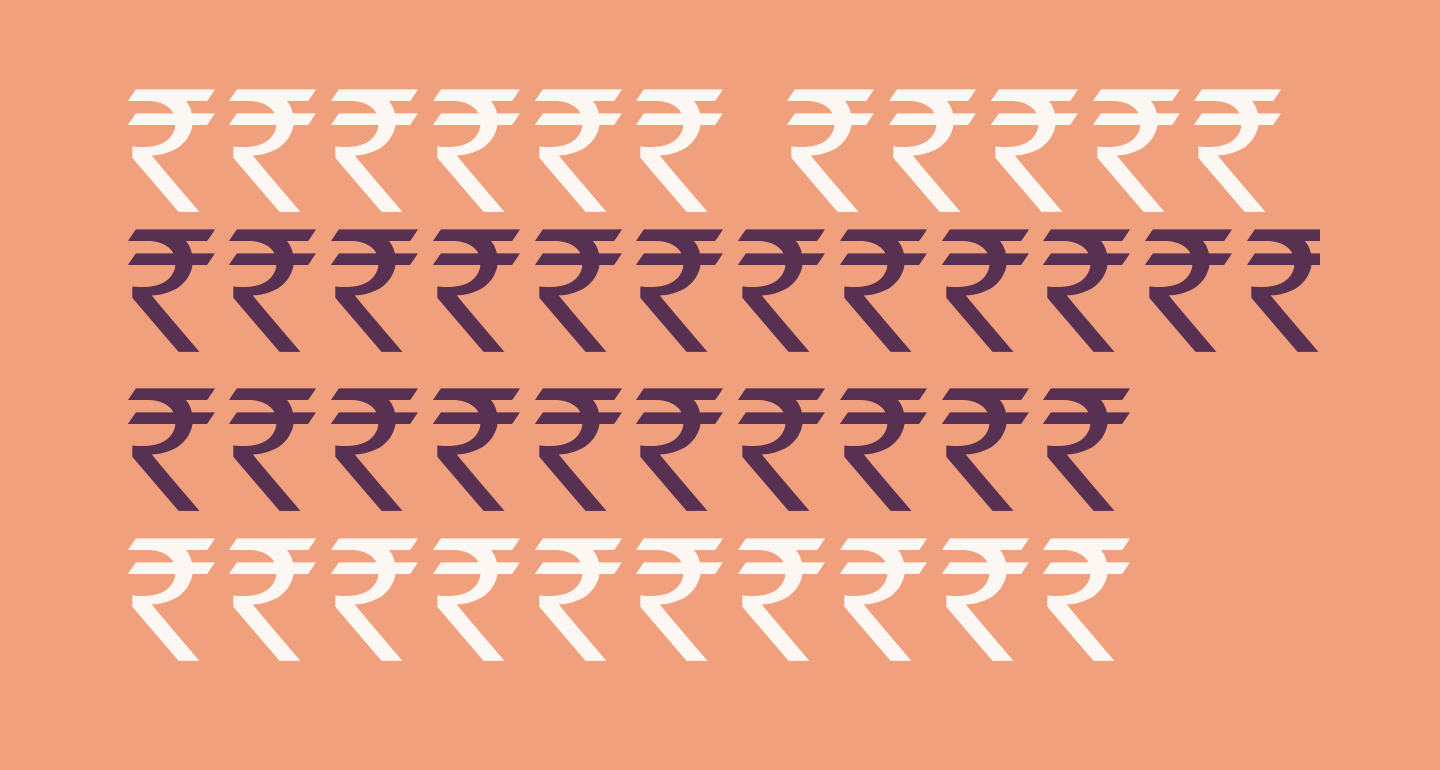 Indian Rupee Font