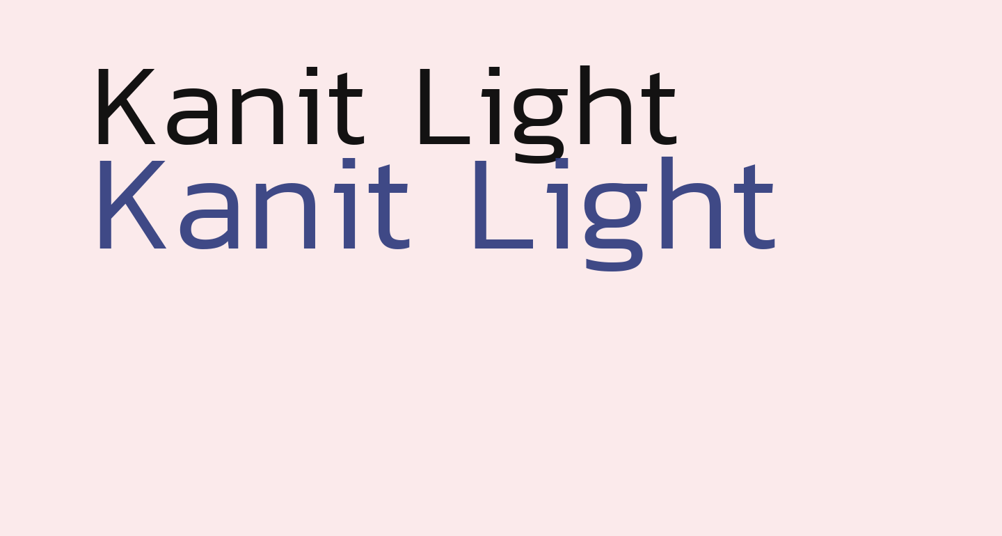 Kanit Light