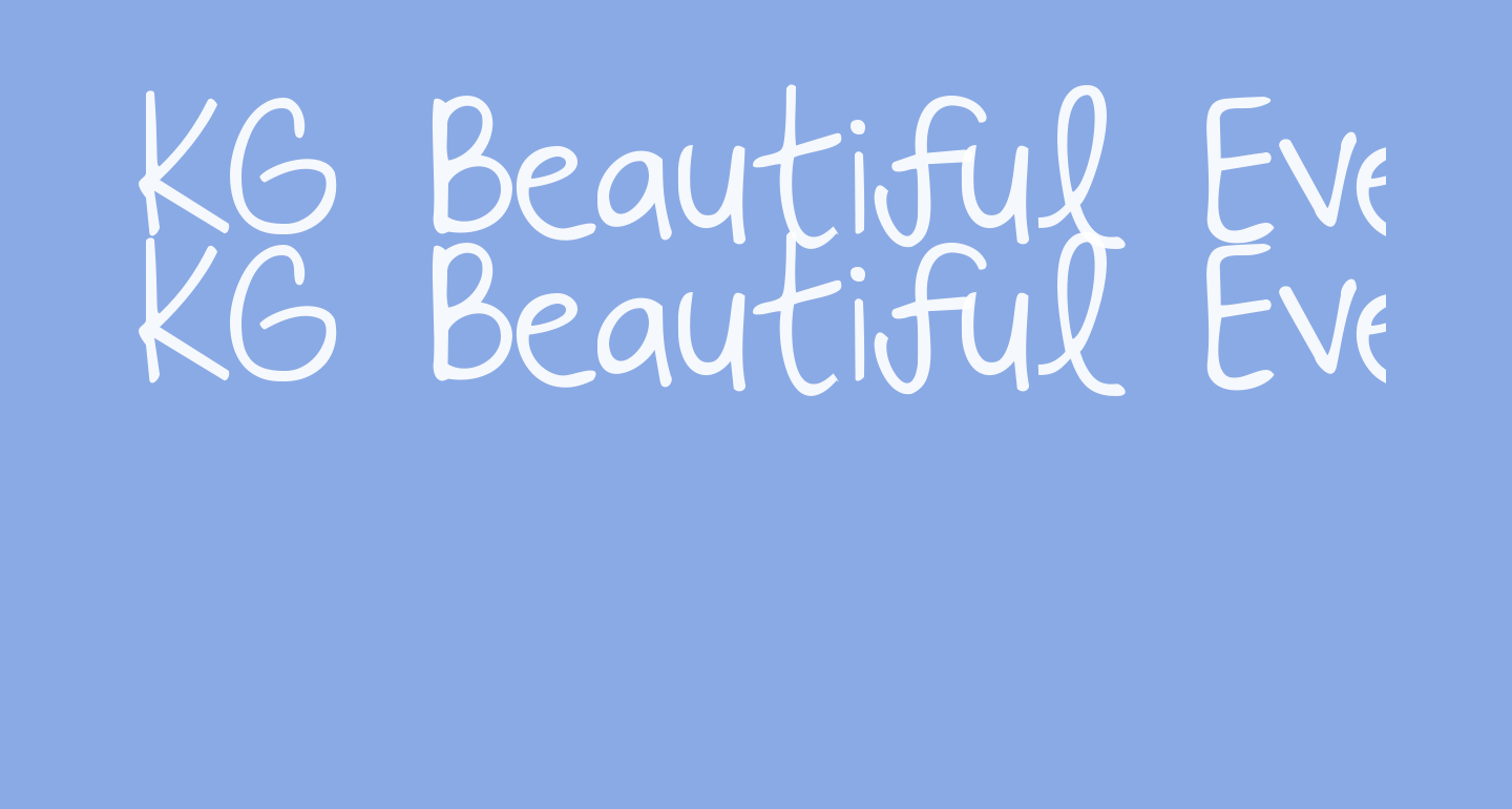 KG Beautiful Every Time
