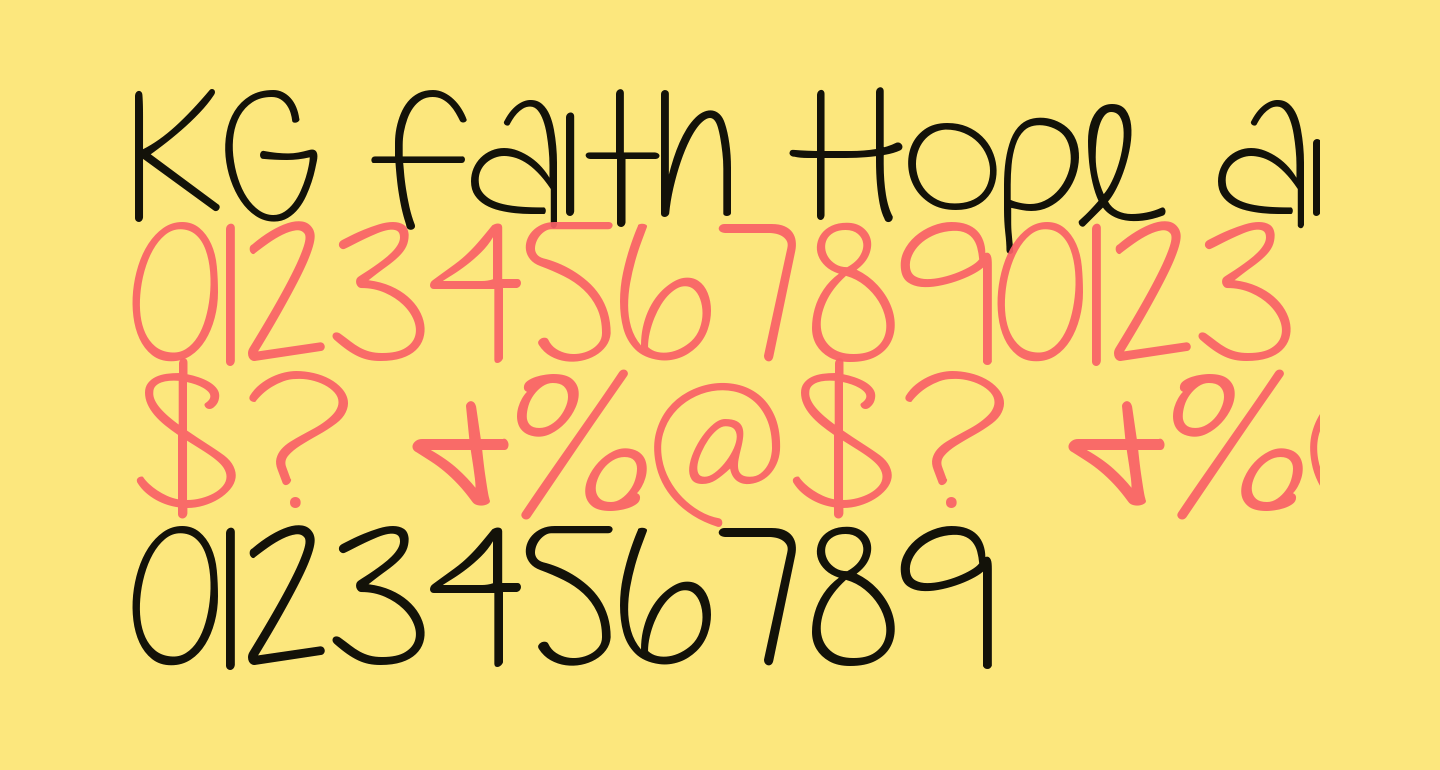 KG Faith Hope and Love