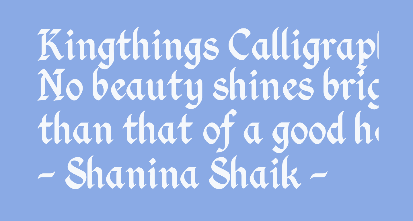 Kingthings Calligraphica 2