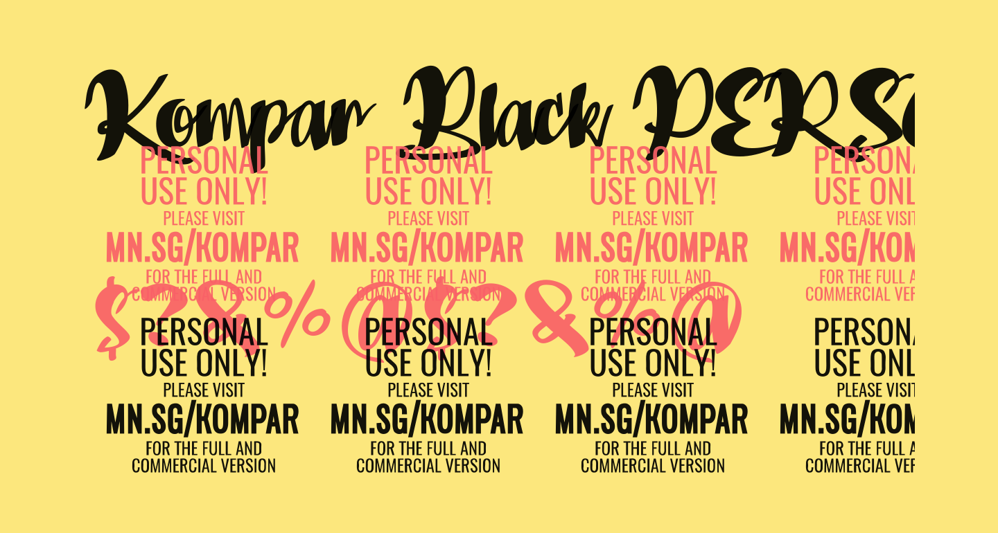Kompar Black PERSONAL USE ONLY