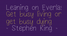 Leaning on Everlasting Arms