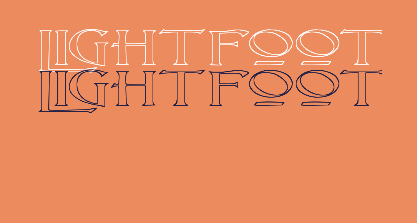 Lightfoot Outline Extra-expanded Regular