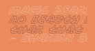 Magic Beans Outline Italic