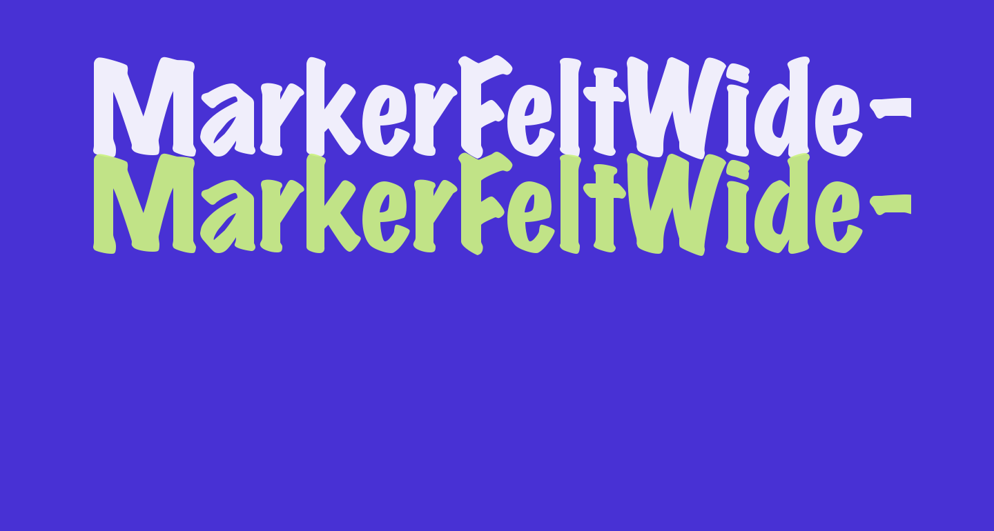 MarkerFeltWide-Plain Regular
