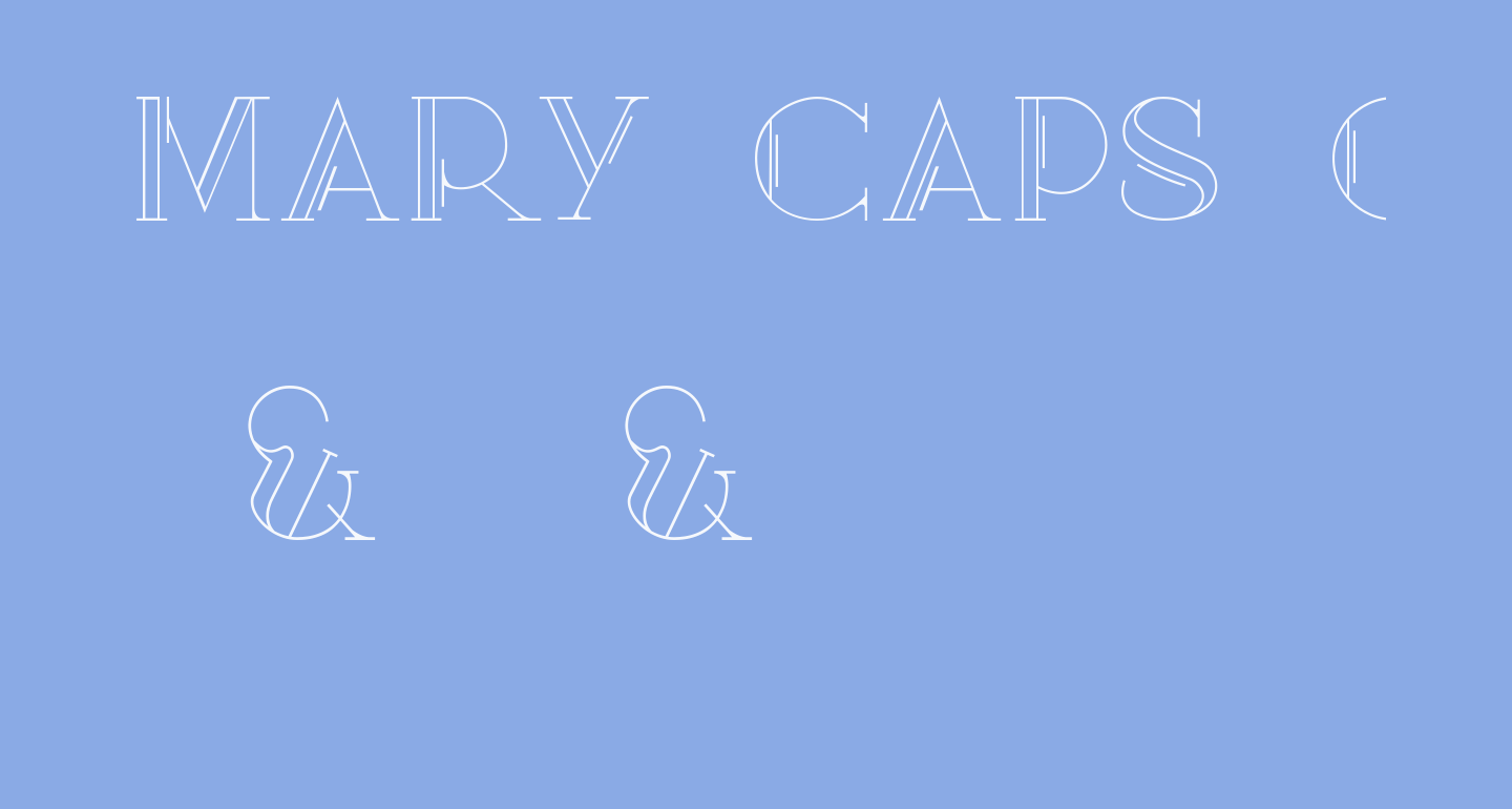 Mary [CAPS] Outline