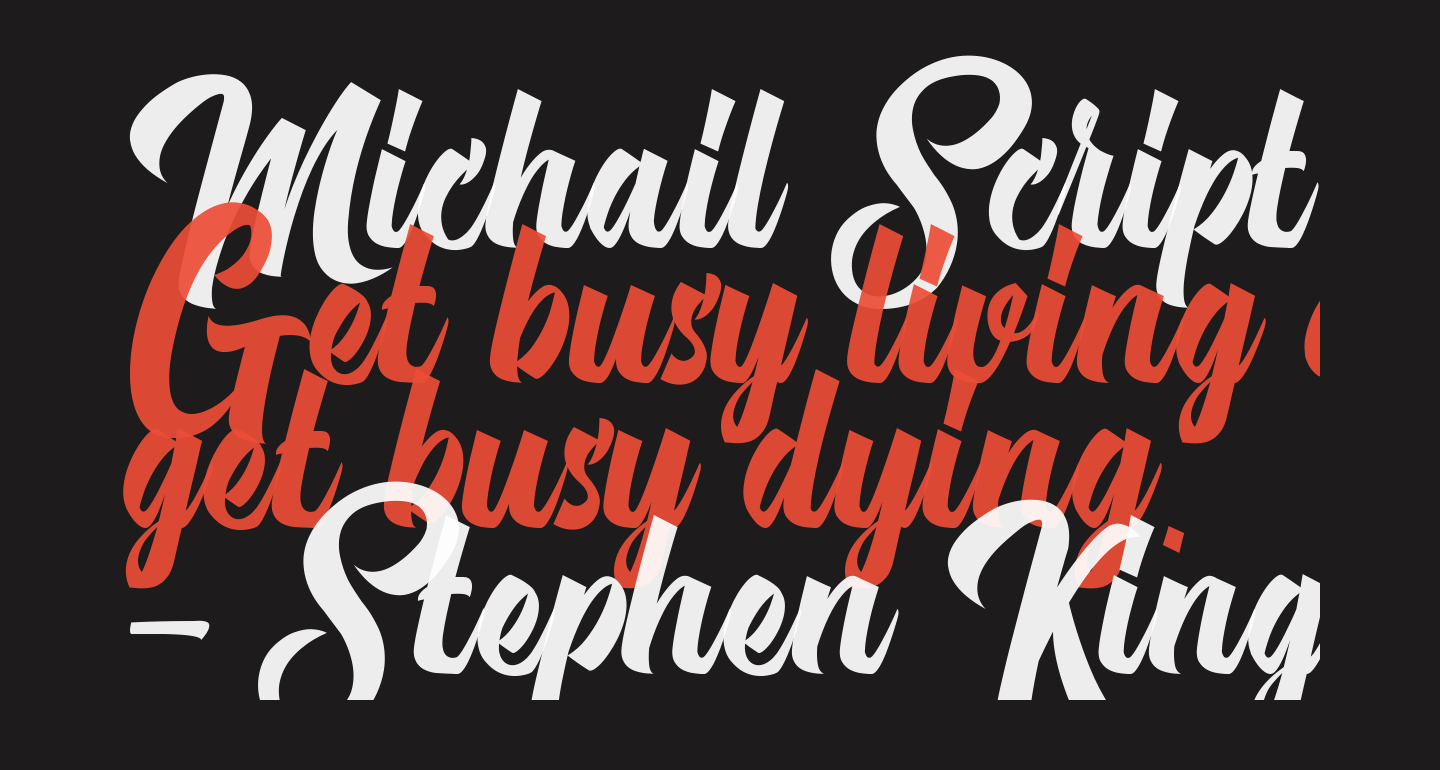 Michail Script  Regular