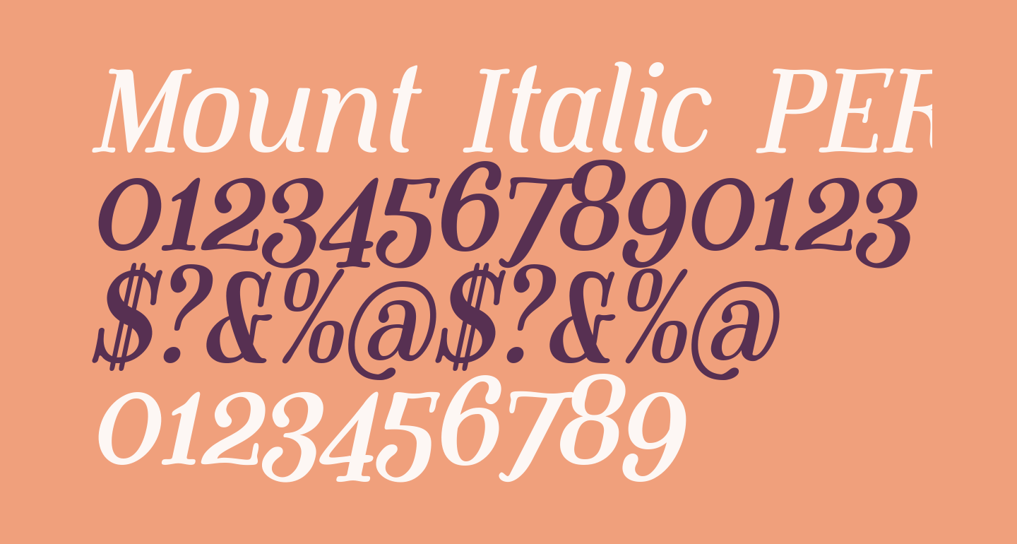 Mount Italic PERSONAL USE ONLY