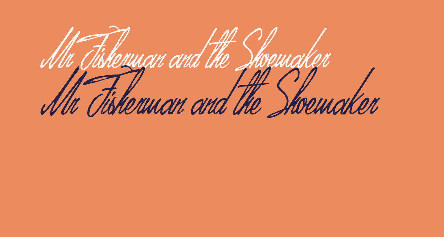 Mr Fisherman and the Shoemaker