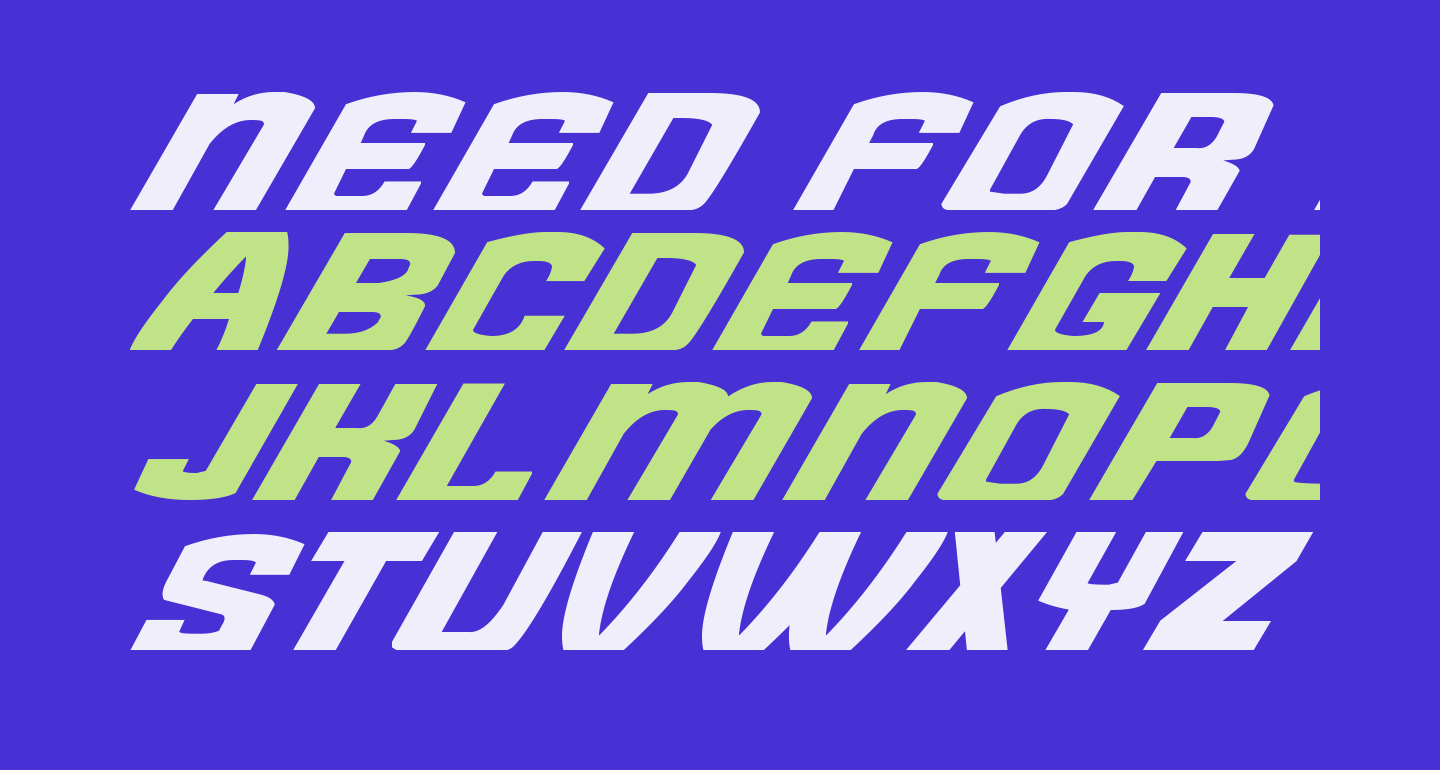 Need for Font