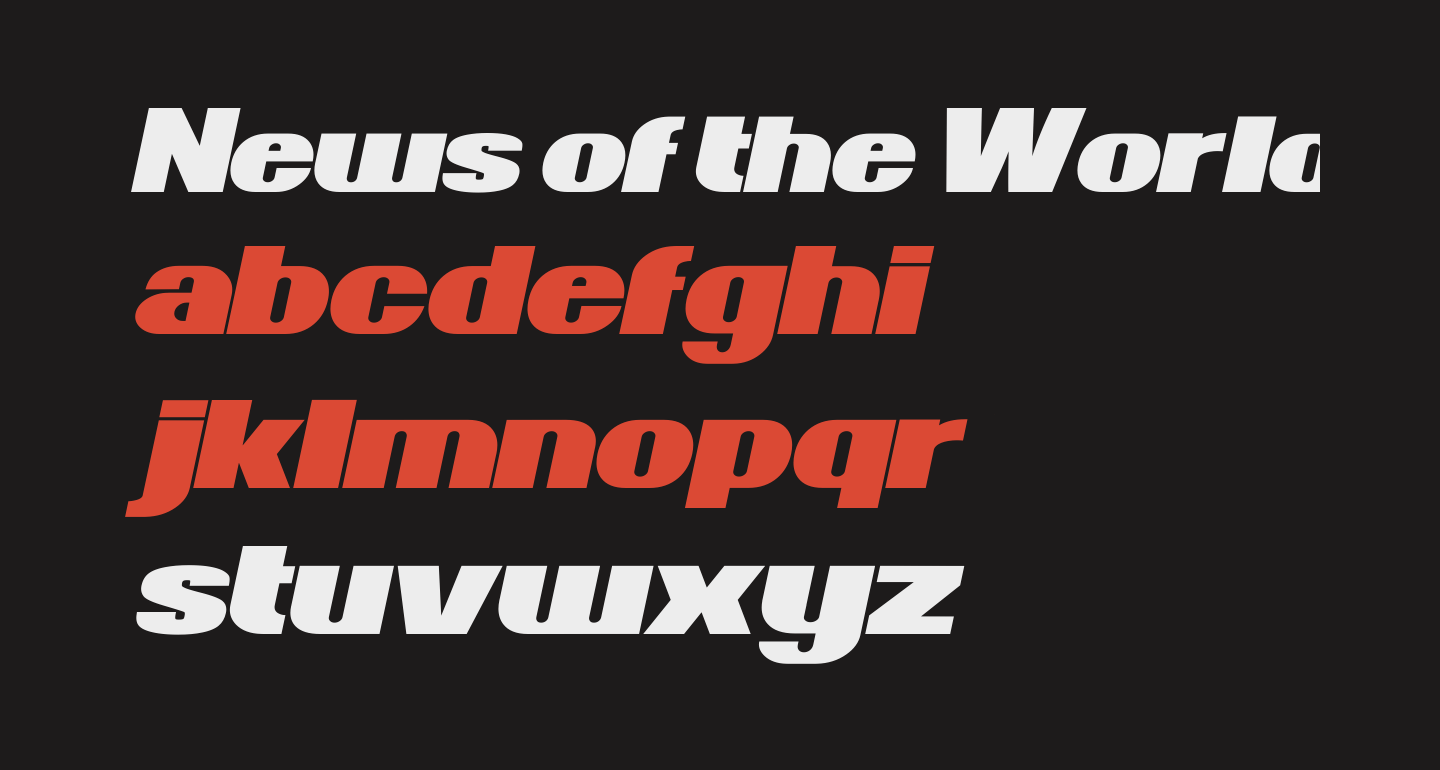 News of the World Wide Italic
