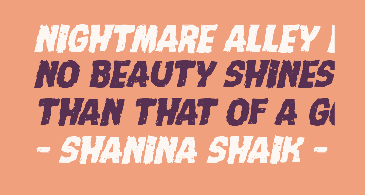 Nightmare Alley Expanded Italic
