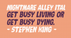 Nightmare Alley Italic