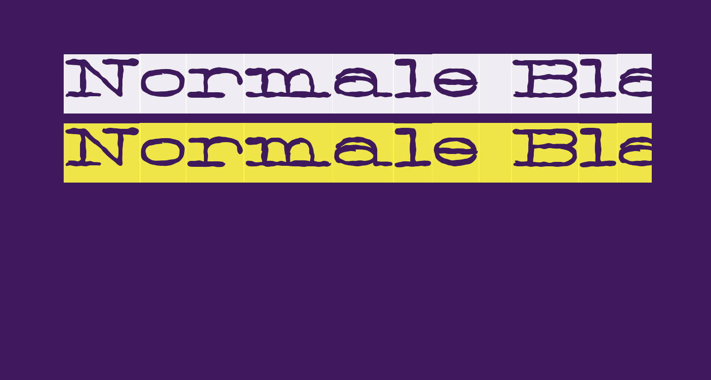Normale Black Personal Use