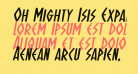 Oh Mighty Isis Expanded Italic