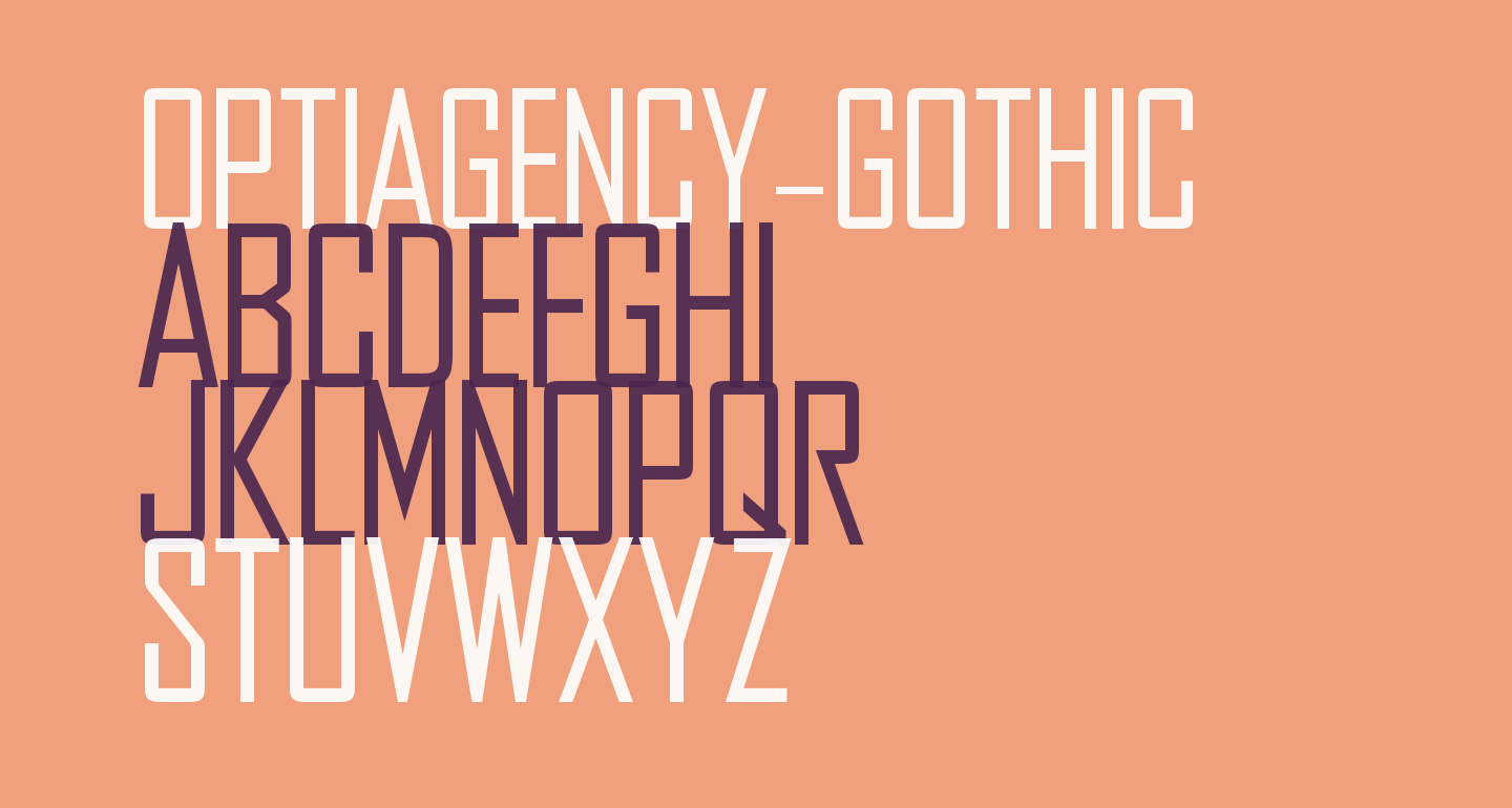 OPTIAgency-Gothic