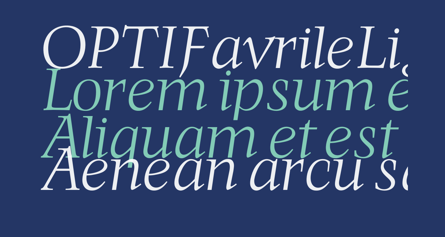 OPTIFavrileLight-Italic