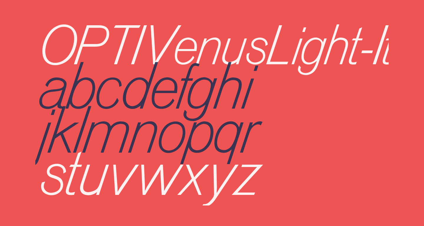OPTIVenusLight-Italic