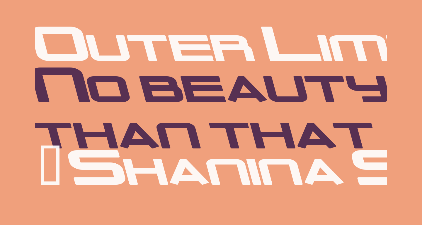 Outer Limits Solid Extended Italic
