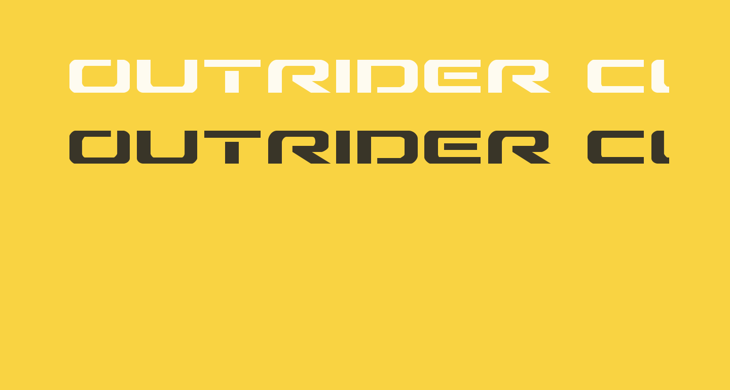 Outrider Condensed