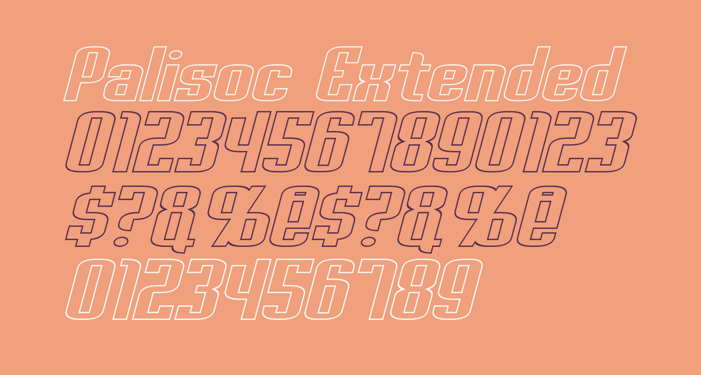 Palisoc Extended Hollow Italic