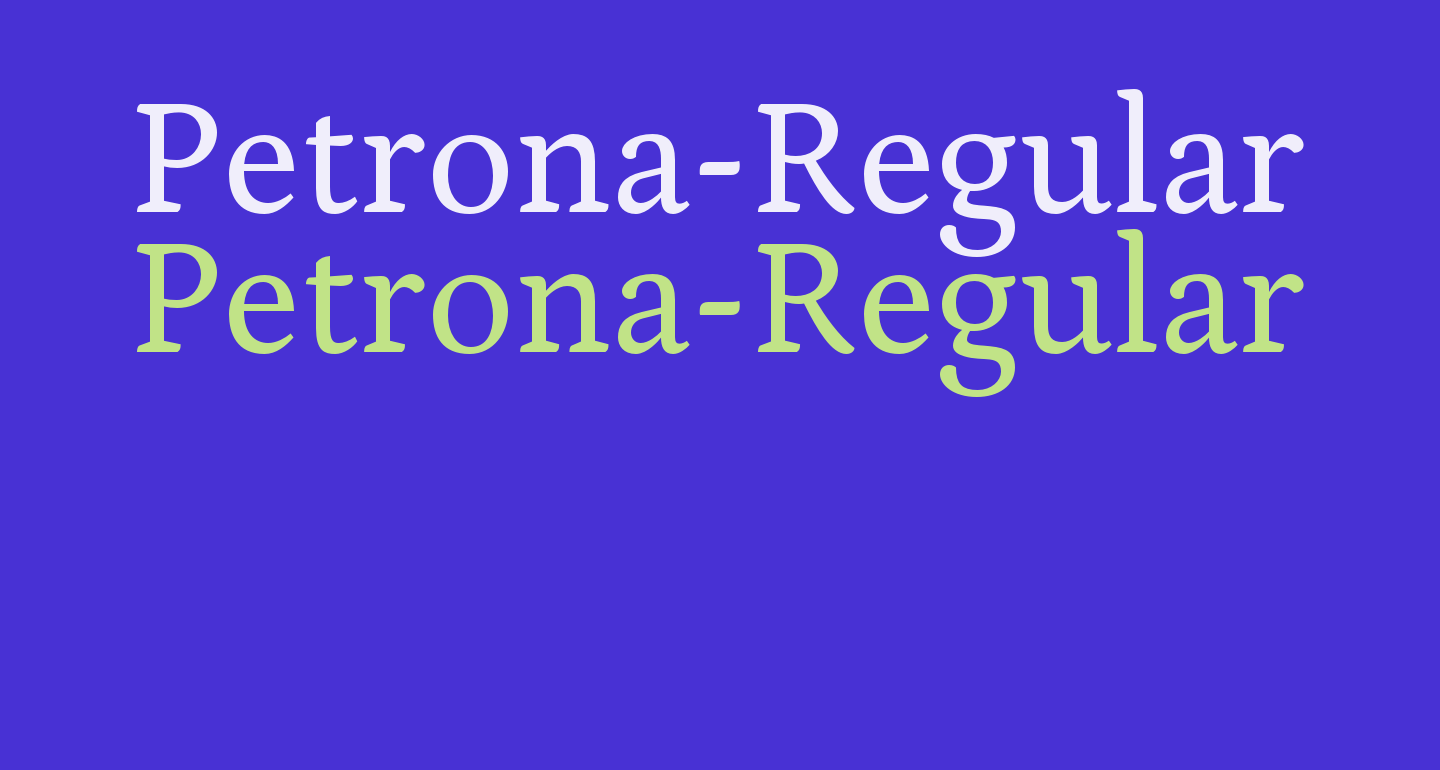 Petrona-Regular