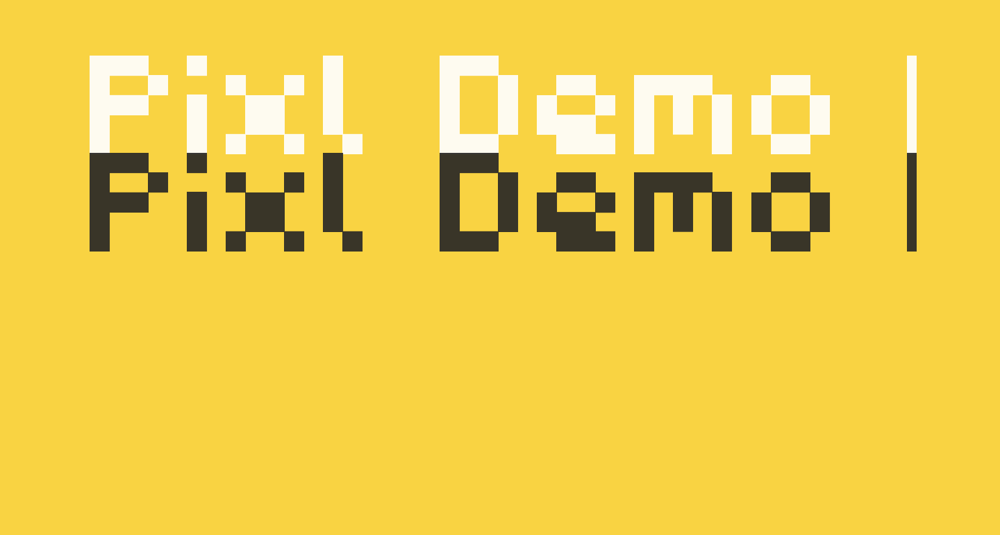 Pixl_Demo-Regular