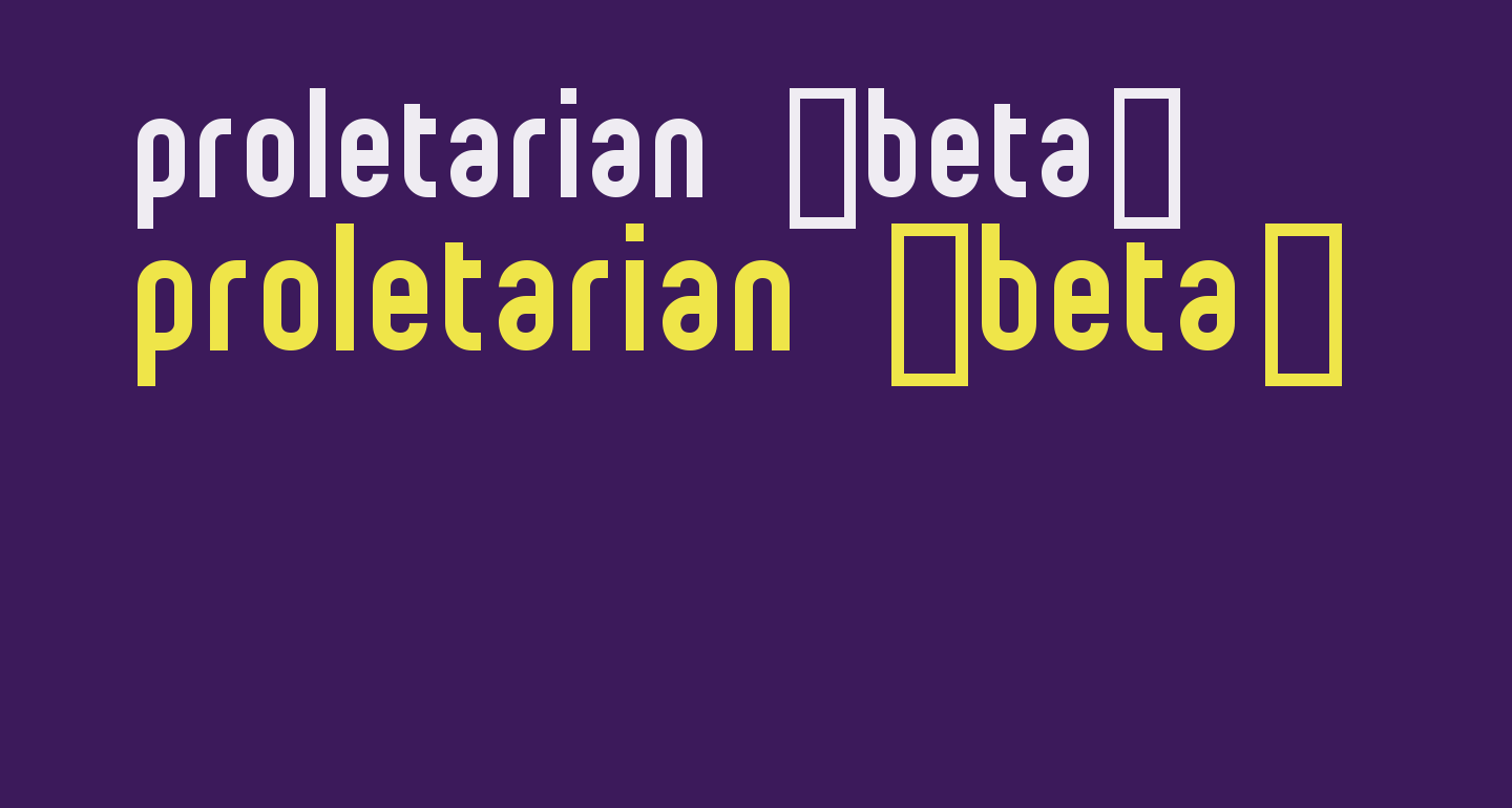 proletarian [beta]