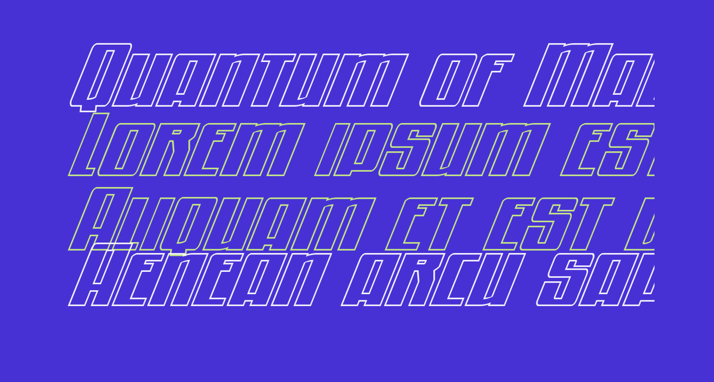 Quantum of Malice Outline Italic