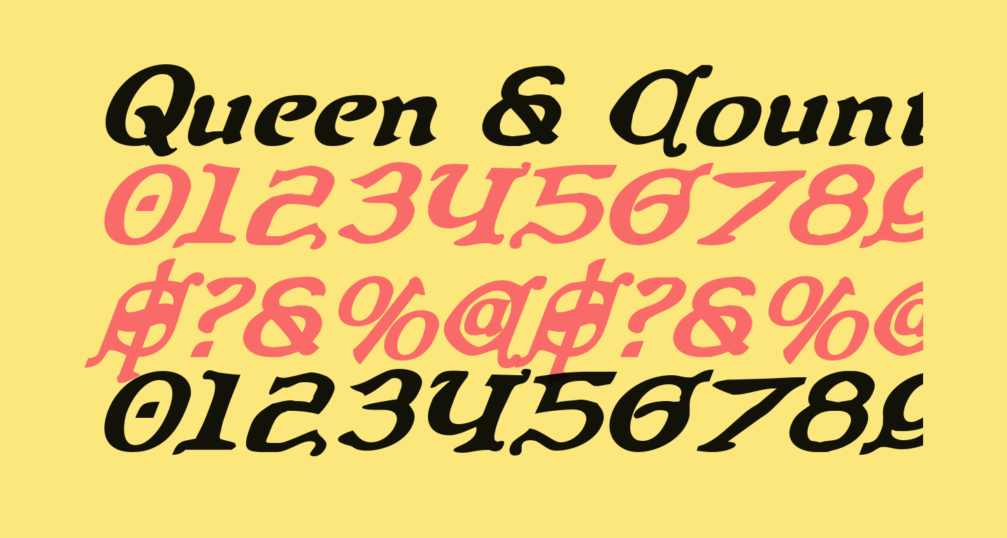 Queen & Country Bold Italic