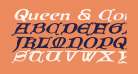 Queen & Country Expanded Italic