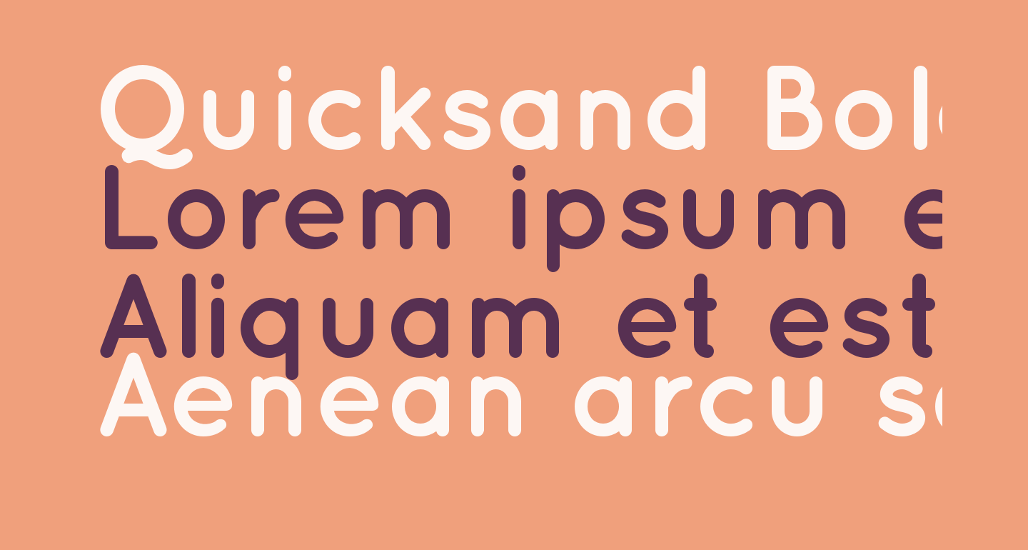 Quicksand Bold Regular
