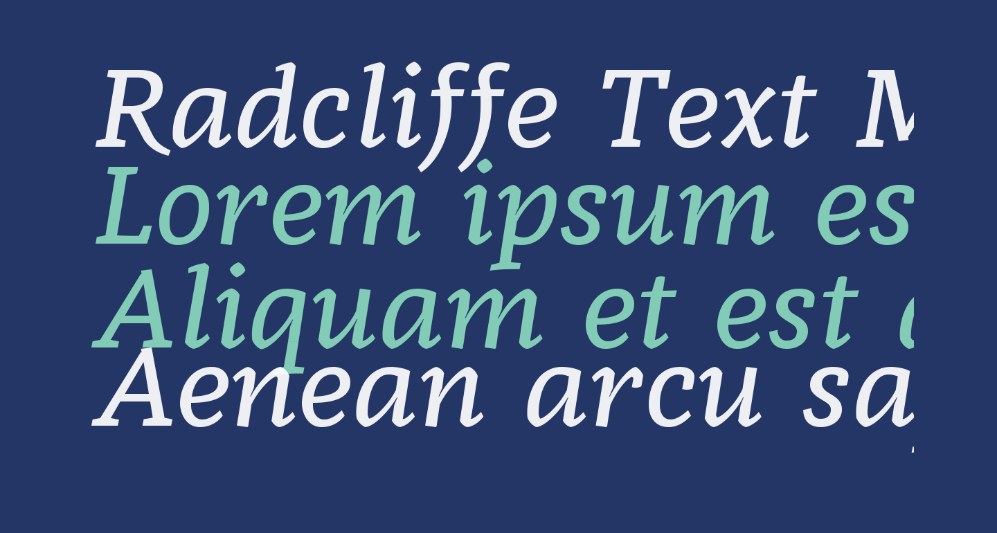 Radcliffe Text Medium Italic