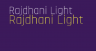 Rajdhani Light