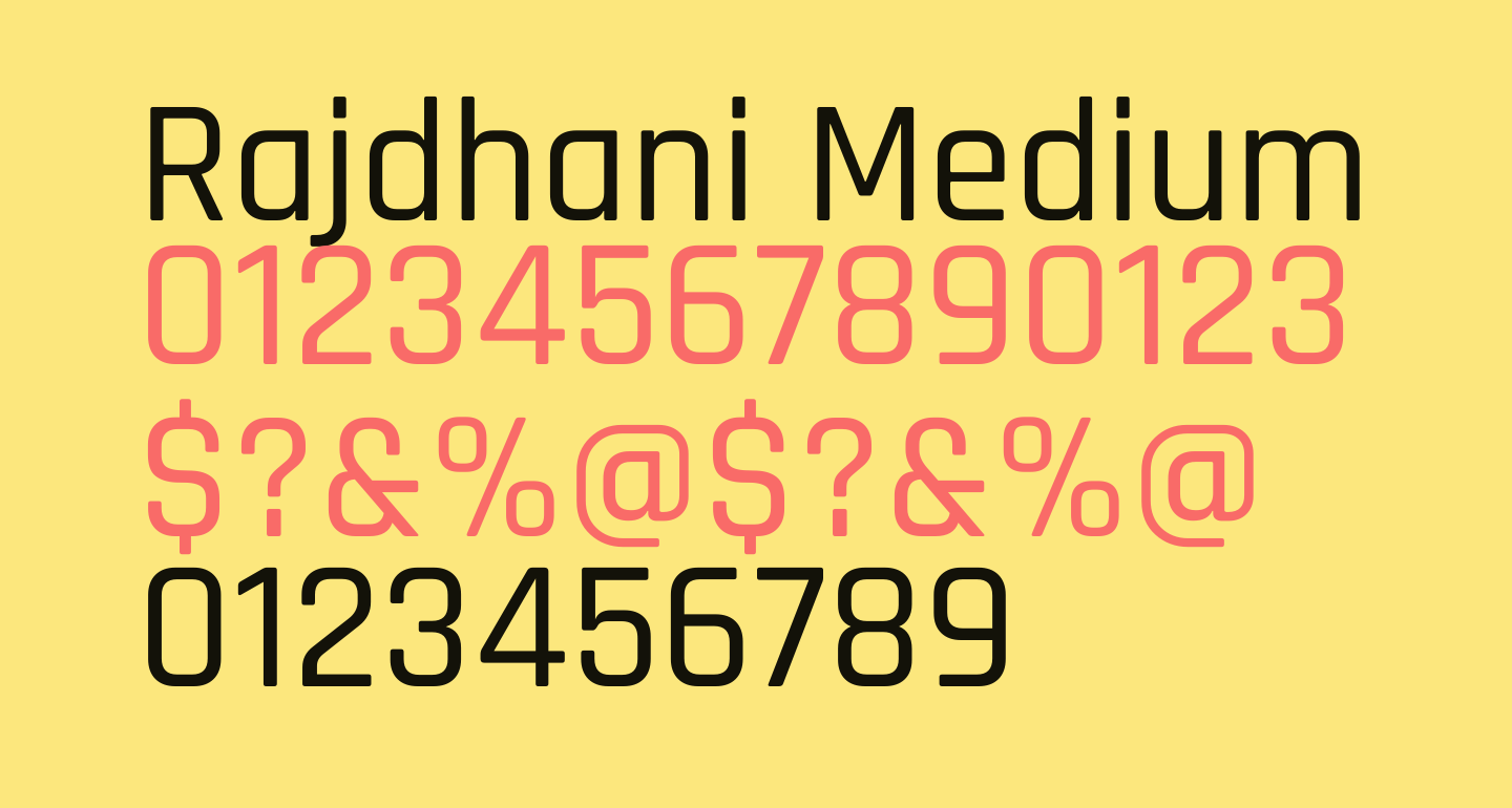 Rajdhani Medium