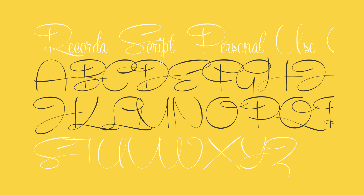 Recorda Script Personal Use Only