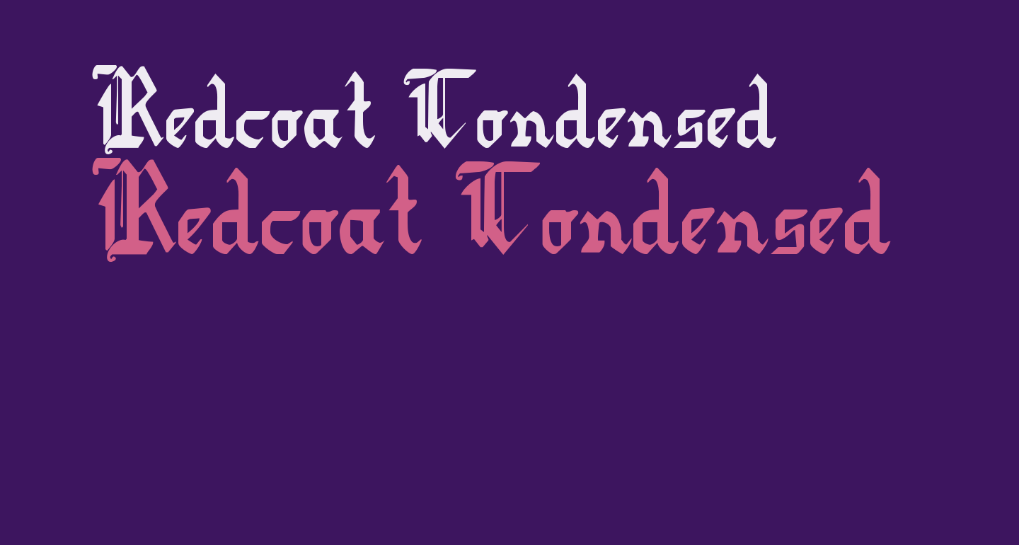Redcoat Condensed