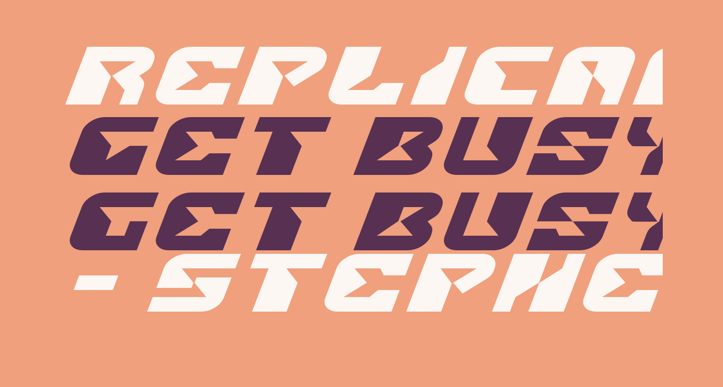 Replicant Expanded Italic