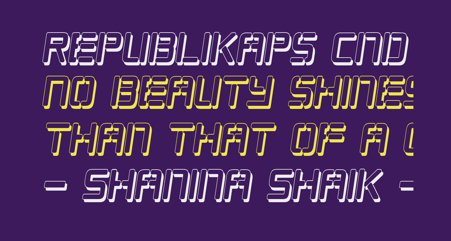 Republikaps Cnd - Shadow Italic