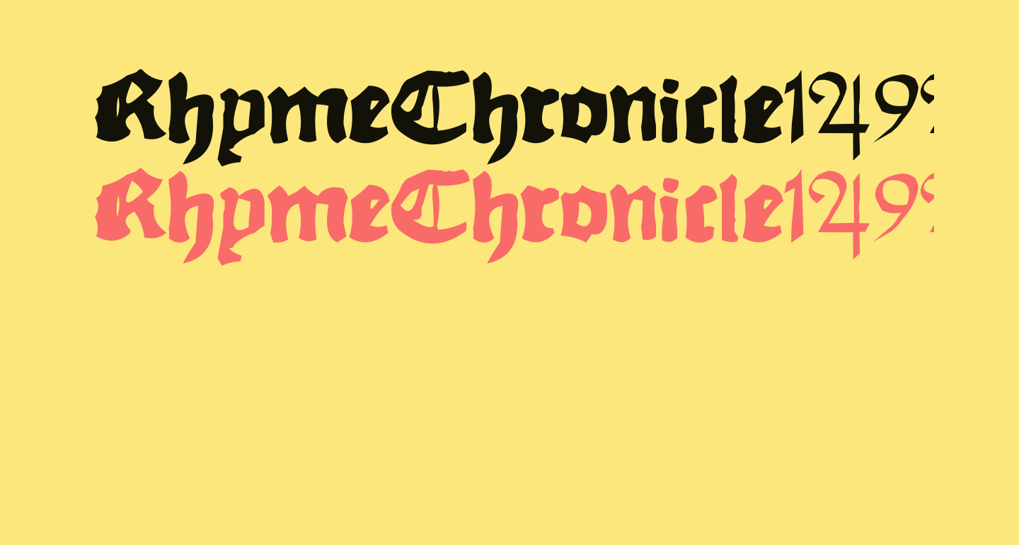 RhymeChronicle1494