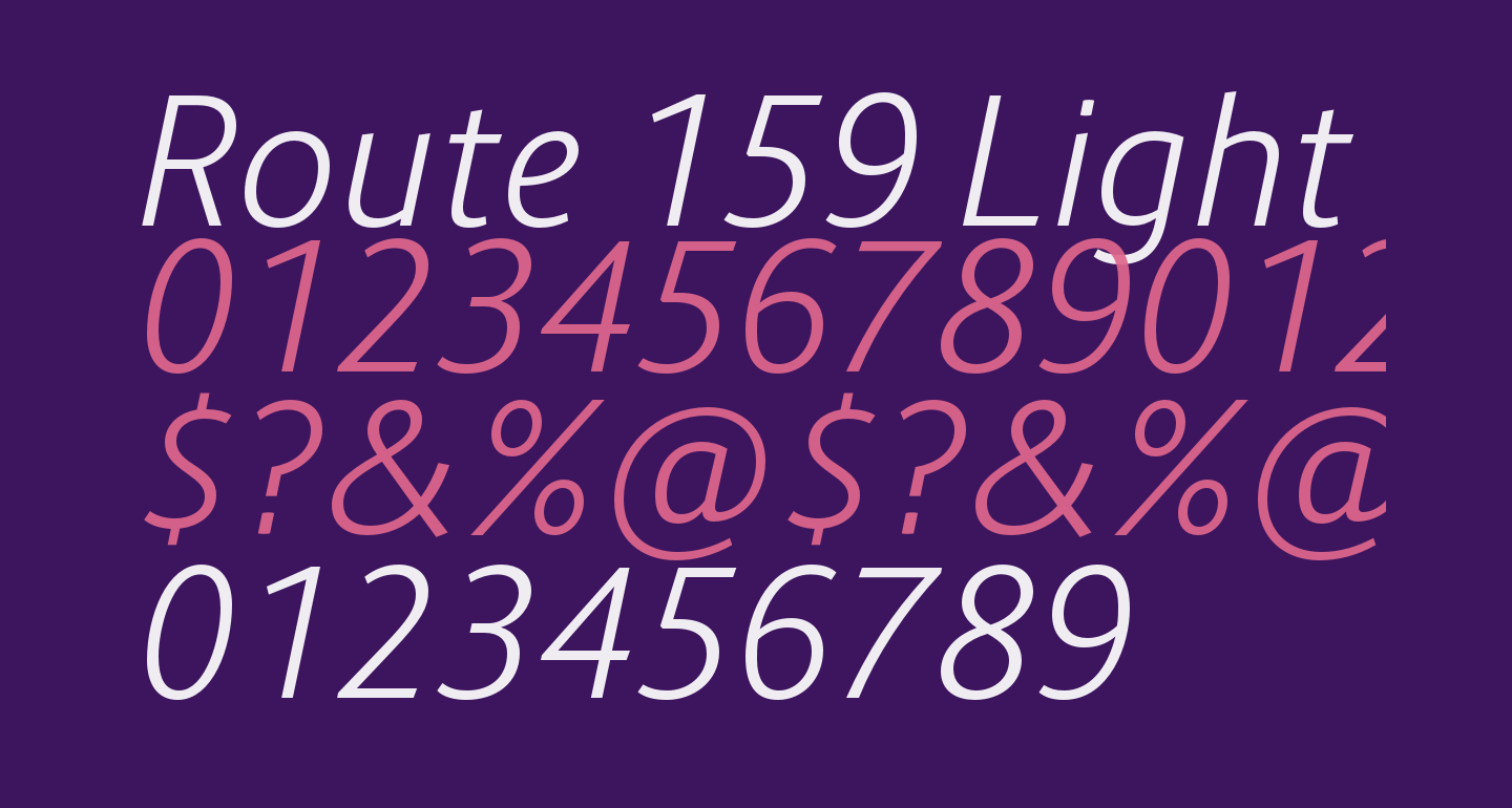 Route 159 Light Italic