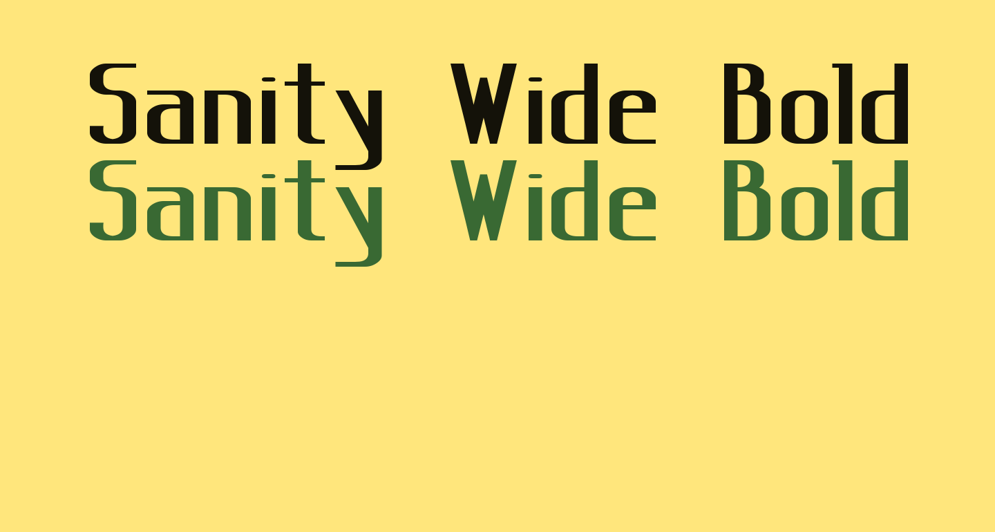 Sanity Wide Bold