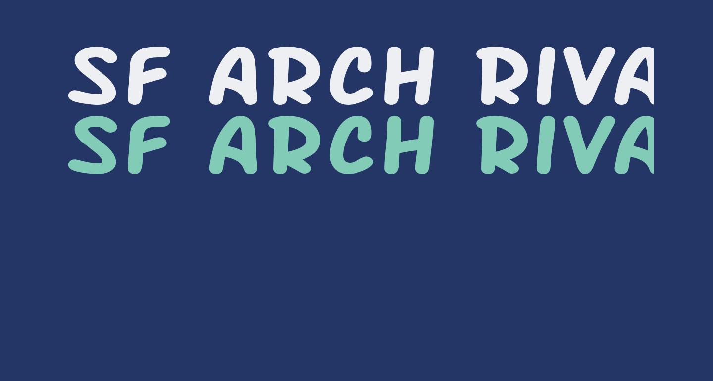 SF Arch Rival Extended Bold