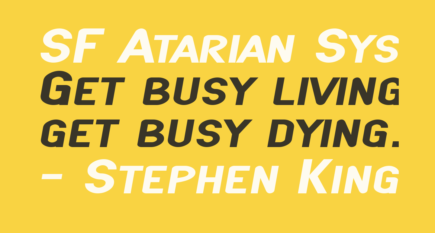 SF Atarian System Extended Bold Italic