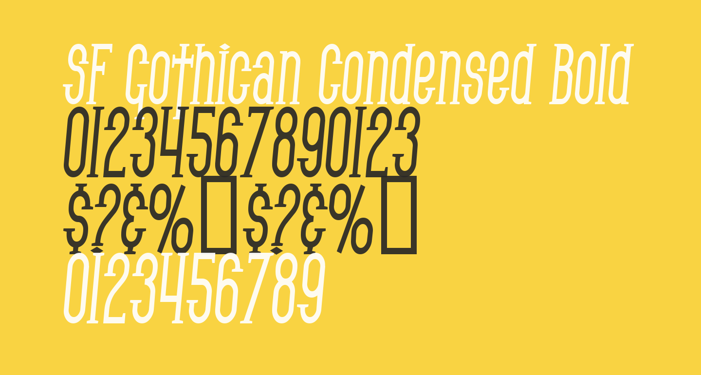 SF Gothican Condensed Bold Italic